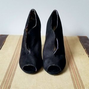 Christian Siriano Shoes - CHRISTIAN SIRIANO Faux Suede Black Ankle Boots